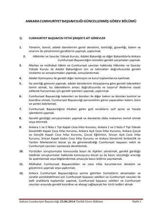 23/06/2014 Tarihli İş Bölümü