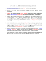 MTU-I, MTU-II ve BİTİRME ÖDEVİ ONLINE SEÇİM SİSTEMİ 1. http