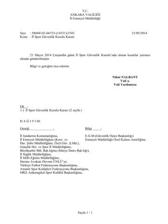 39. Kurul Kararı - Ankara Valiliği