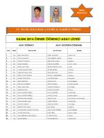 kasım 2014 örnek öğrenci aday listesi