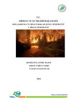 Denizli İli, Çivril İlçesi Akdağ Tabiat Parkı Yangın Eylem Planı