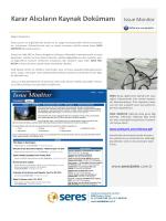 Karar Alıcıların Kaynak Dokümanı Issue Monitor