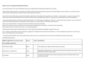 Başvurularda hazırlanacak olan formlar Üniversitemiz web