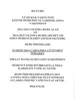 DUYURU - İstanbul Üniversitesi | Hukuk Fakültesi