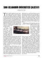 Sam-Selahaddin üniverSiTeSi çalıŞTaYı