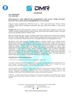 SPK/2014.008 – Halka Açık Şirketler Bakımından 6102 Sayılı Türk