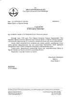 Müdürlüğümüzün konu ile ilgili 20/08/2014 tarih ve 3453396 sayılı