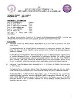 13/12/2013 Tıp Fakültesi Yönetim Kurulu Kararı
