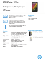 HP Tablet Fact tag A6