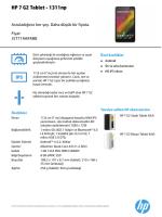 HP Tablet Fact tag A6