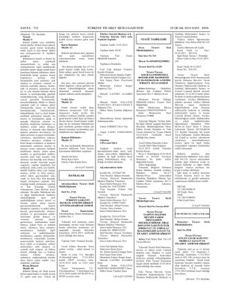 29.01.2014 tarihli ticaret sicil gazetesi