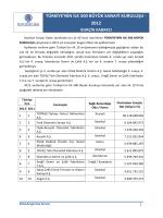 türkiye 500 büyük sanayi kuruluşu bilgi notu 2012