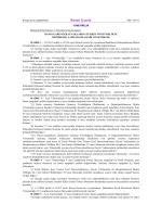 Resmî Gazete - Bankacılık Düzenleme ve Denetleme Kurumu