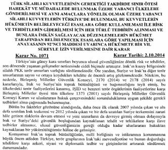 1071 Türk Silahlı Kuvvetlerinin Gerektiği Takdirde