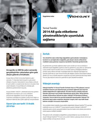 2014 AB gıda etiketleme yönetmelikleriyle uyumluluk