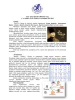 2014-2015 EĞİTİM-ÖĞRETİM YILI 3-A SINIFI
