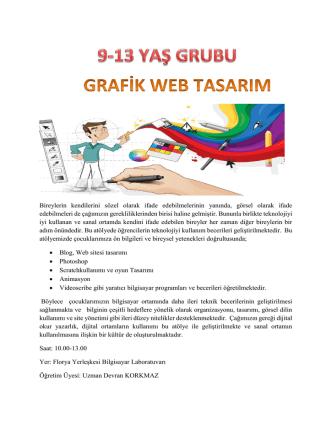 9-13 Yaş Grubu Felsefe ve Grafik Web Tasarım
