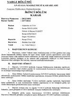 Anayasa Mahkemesinin 23/7/2014 Tarihli ve 2012