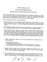 Toplantı Tutanağı - Turcas Petrol A.Ş.