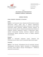Öğrenci Konseyi Yönergesi - Süleyman Şah Üniversitesi