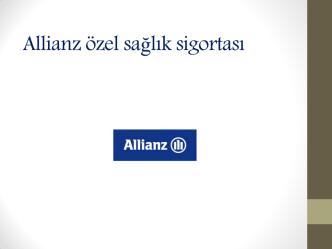 Allianz Özel Sağlık Sigortası