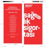Sağlık Broşürü - Anadolu Sigorta