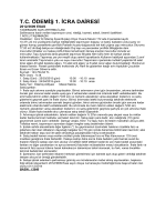 t.c. ödemiş 1. icra dairesi 2012/3609 esas