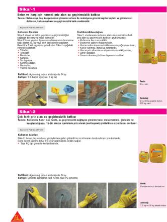 Beton ve harç için normal priz alan su geçirimsizlik katkısı