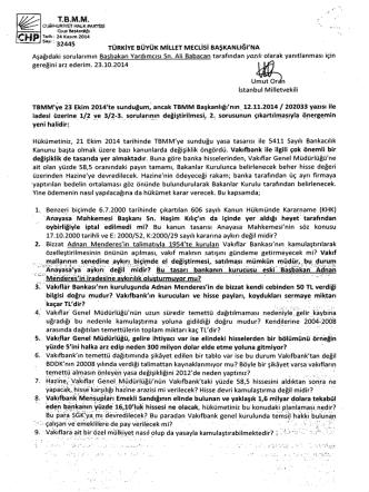 CHP - Türkiye Büyük Millet Meclisi