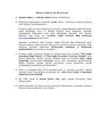 DİKKAT EDİLECEK HUSUSLAR 1. Standart dilekçe ve sözleşme