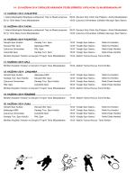 14 - 20 HAZİRAN 2014 MÜSABAKA PROGRAMI