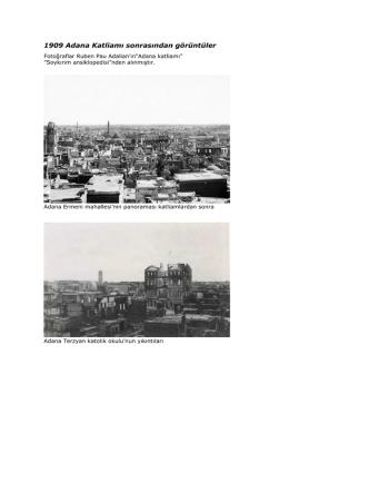 1909 Adana Katliamı sonrasından görüntüler