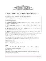9. sınıfa nakil geçiş seviye tespit sınavı - DEU