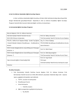 Kurultay Raporu - Türk Dermatoloji Derneği