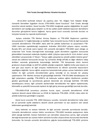 """da yapılmış olan """"35. Olağan Türk Tabipler"""