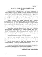 05/6/2014 LİSANSÜSTÜ EĞİTİM BAŞVURU (ÖN KAYIT) DUYURUSU