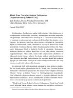 Klasik İcma Teorisine Modern Yaklaşımlar (Yayımlanmamış Doktora