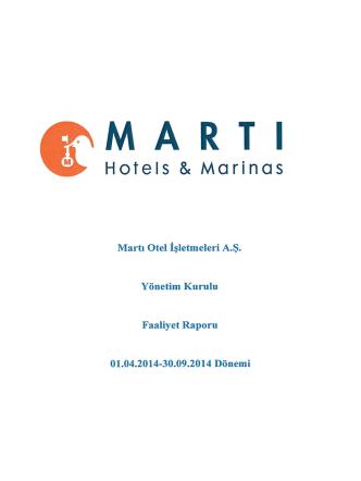 -MARTI - Martı Otel İşletmeleri