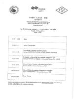 Ek: Toplantı Programı