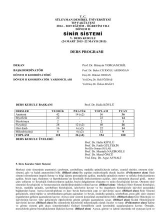 Beşinci Kurul - Süleyman Demirel Üniversitesi