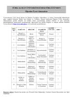Türk-Alman Üniversitesi Öğretim Üyesi Alım İlanı