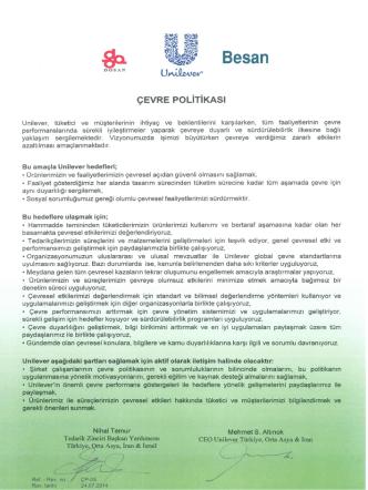 Çevre Politikası - PDF