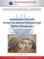 Hekimlere Yönelik Temel ve Güncel Hematoloji Eğitim Programı