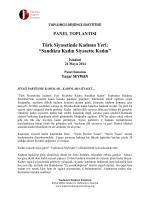 """Türk Siyasetinde Kadının Yeri: """"Sandıkta Kadın Siyasette Kadın"""""""