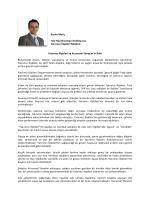 Besim Meriç TAV Havalimanları Holding A.Ş Yatırımcı İlişkileri