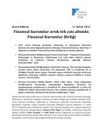 Finansal kurumlar artık tek çatı altında: Finansal Kurumlar Birliği