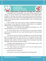 TOTAL PARENTERAL NÜTRİSYON (TPN) MALİYET ANALİZİ