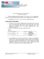 Lojman duyurusu - Kastamonu İl Sağlık Müdürlüğü