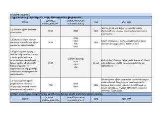 Bilişim Sektörü 2014 Yılı Eylem Planları
