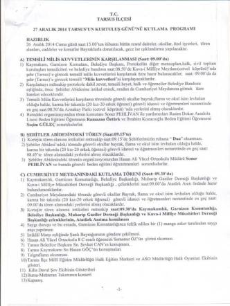27 aralık programı - Karabük Milli Eğitim Müdürlüğü